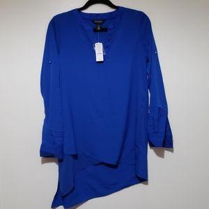 WHBM Asymmetrical blouse NWT
